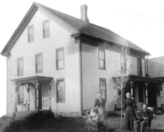 Major Dimick House as it looked in the 19th Century