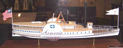 Replica of Hudson River steamboat Armenia